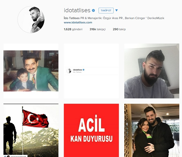 ido tatlıses instagram
