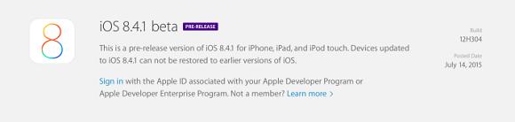 ios 8.4.1 beta çıktı