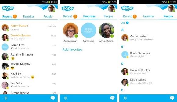 skype güncellendi