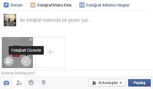 facebook fotoğraf düzenleme