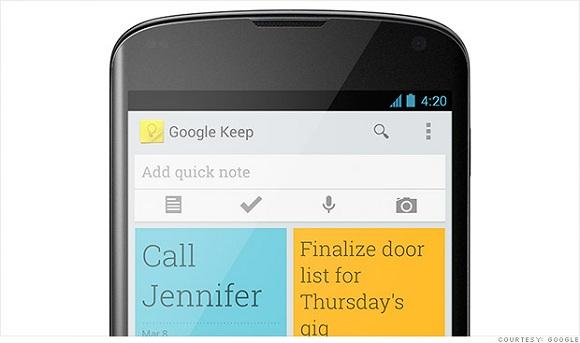 google keep uygulaması ios platformunda
