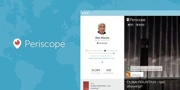 Periscope için web profilleri özelliği geldi!