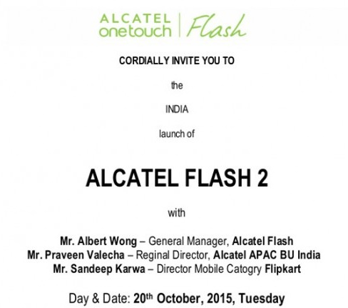 alcatel flash 2 davetiyesi