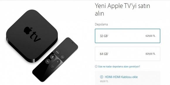 apple tv fiyatları