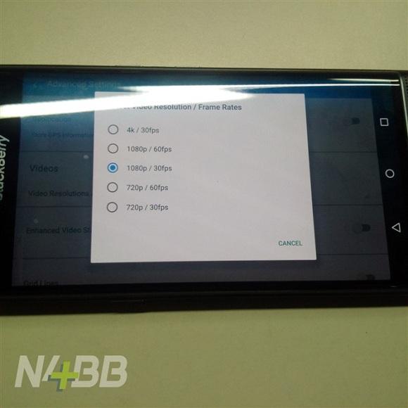 blackberry priv 4k video özelliği