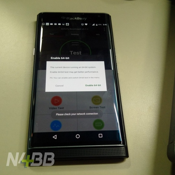 blackberry priv 64-bit işlemci