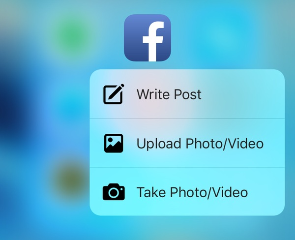 facebook 3d touch özelliği