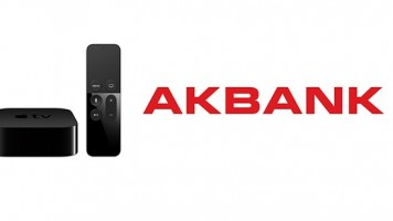 Akbank Direkt uygulaması Apple TV'de
