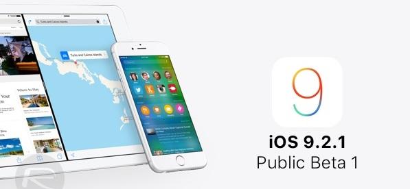 ios 9.2.1 public beta güncellemesi