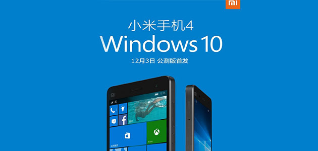 Windows 10 Mobile işletim sistemli Xiaomi Mi4!