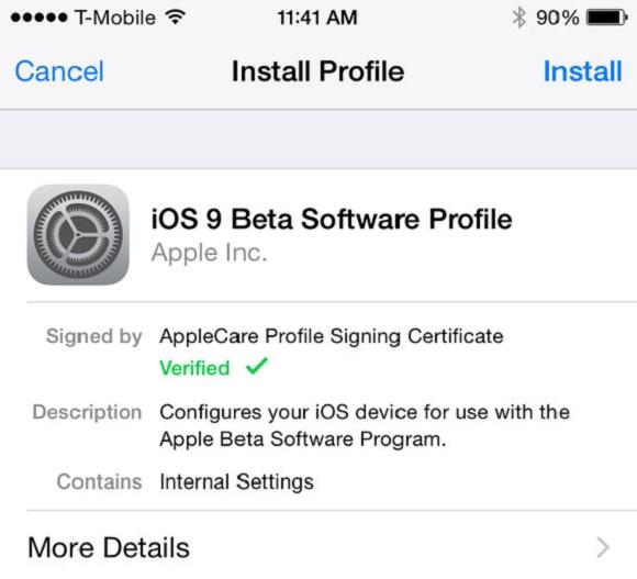 ios 9 beta artık herkese açık