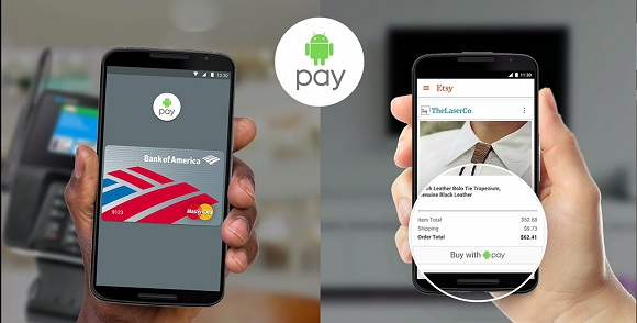 Android Pay Play Store'da kullanıma sunuldu