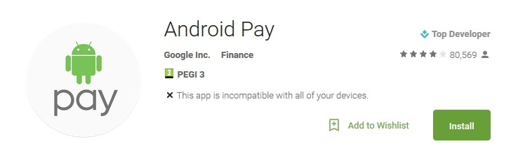 android pay uygulaması