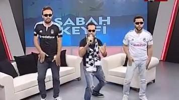 BJK TV'de ilginç rap performansı