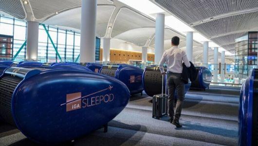 İstanbul Havalimanı'nda Uyku Kapsülleri Kullanıma Açıldı!