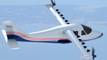 NASA, Kanatlarında 14 Motor Olan Tam Elektrikli Uçak Geliştirdi!